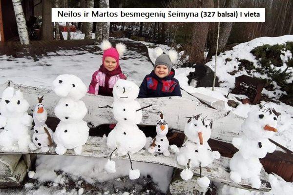 001 Neilos ir Martos bemegenių šeimyna 327 balsai (Ivieta)