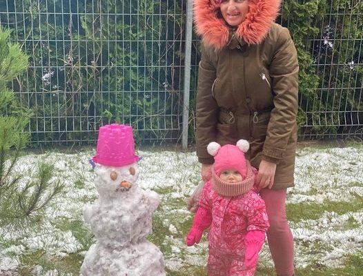 Babytė Rasa, anūkytė Kamilytė ir jos pirmas sniego gražuoliukas 153 balsai